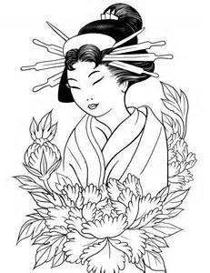 Geisha Kimono Coloring Pages - Bing Images