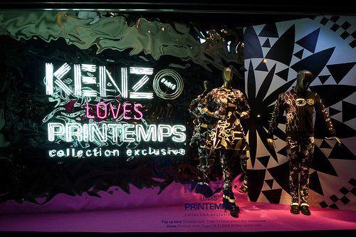 Vitrines Kenzo loves Printemps - Paris, septembre 2014