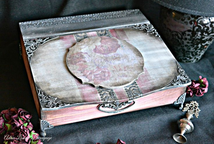 vintage shabby chic romantic home decor jewelry box Adisa Lisovac Decoupage