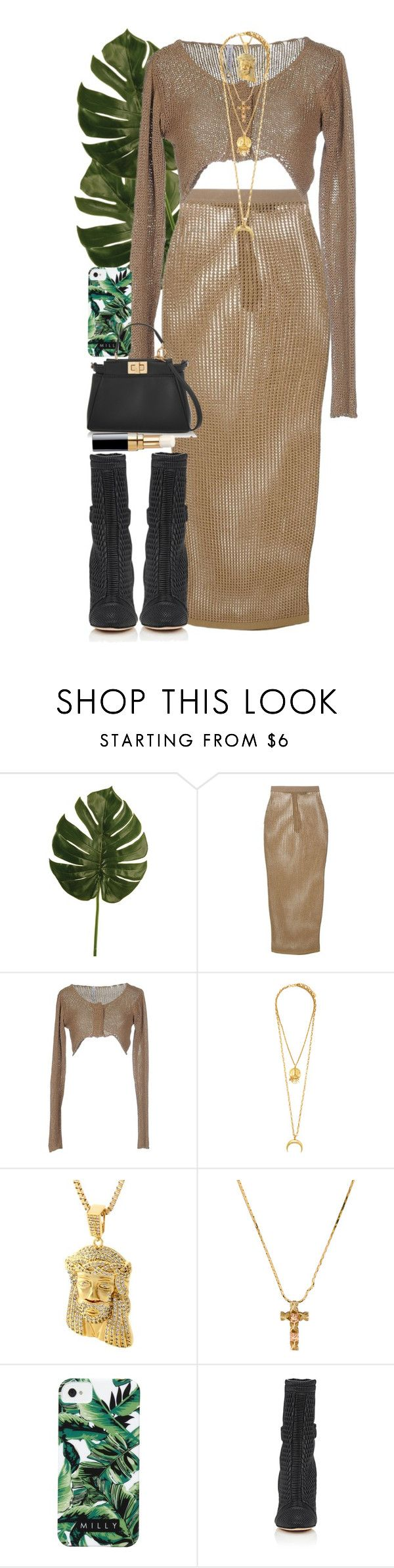 """""""Do not be angry with the rain; it simply does not know how to fall upwards."""" by quiche ❤ liked on Polyvore featuring Balmain, Pianurastudio, Elizabeth Cole, BillyTheTree, Milly, Fendi and Chanel"""
