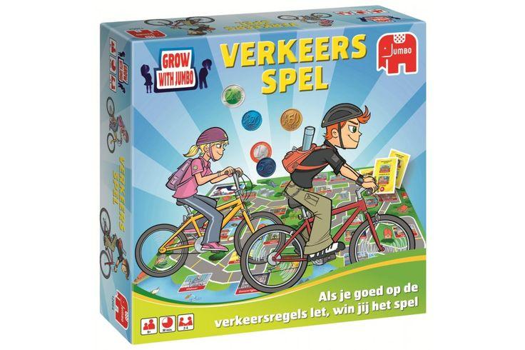 Verkeersspel van Jumbo  Leer op een leuke manier de verkeersregels! In dit spel ben jij een fietskoerier en je moet supersnel opdrachten ophalen en afleveren op de plaats van bestemming. Dit moet je natuurlijk sneller dan andere koeriers doen!  #spel #jumbo #kindercadeau