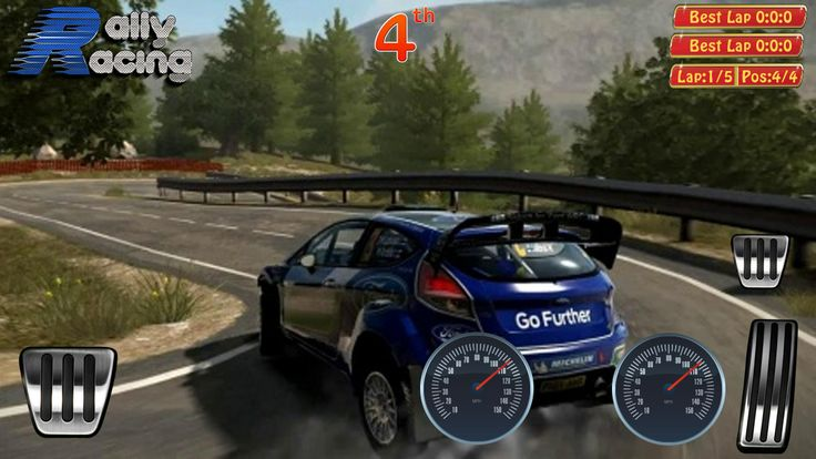 Play screen of rally racing game