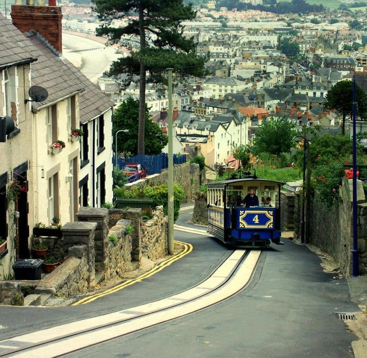 Llandudno, North Wales. This is the road leading down from the top of the Great Orme. At the top there are fantastic views along the coast and a Bronze Age mine which you can get a conducted tour of.