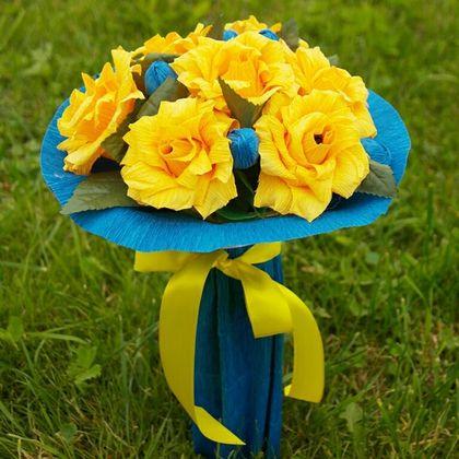 Букеты ручной работы. Конфетный букет из роз - Желтые розы.. Мастерская вкусных подарков. Ярмарка Мастеров. Красный, розы