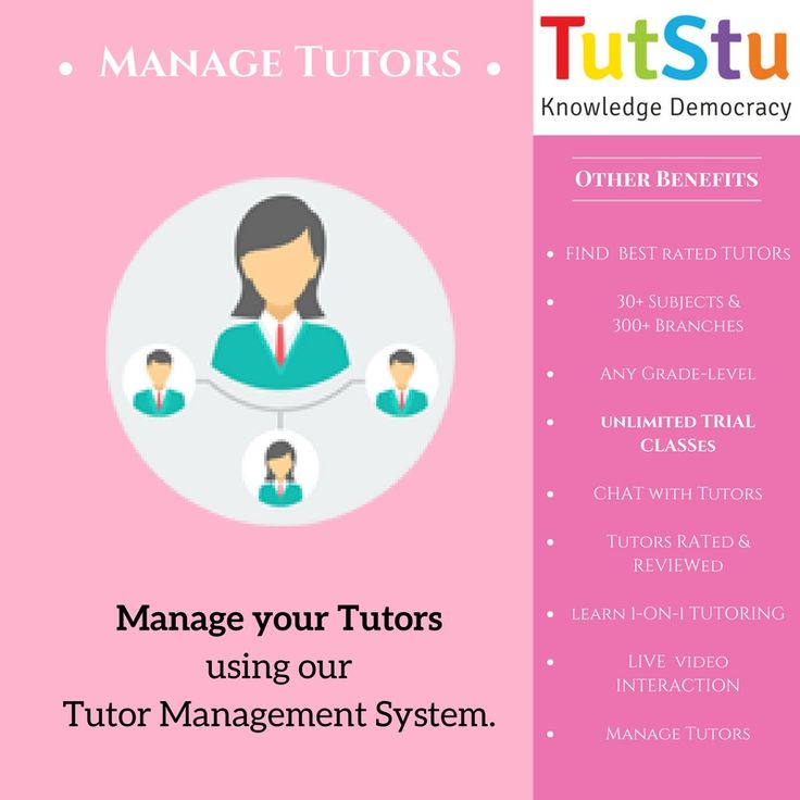 Students can Now manage their tutors using TutStu's Tutor Management System.