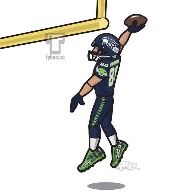 Jimmy Graham Seattle Seahawks Tyke. The Saints agreed to a trade Pro Bowl tight end Jimmy Graham and a fourth-round draft pick to the Seahawks for center Max Unger and the 31st pick in the 2015 draft. What do you think, GOOD MOVE OR BAD MOVE? (The number 80 has been retired by the Seattle Seahawks for Steve Largent. This image is for entertainment purposes). #JimmyGraham #Seahawks #GoHawks #NFL #football #adidas #tyke #tykes #MyTyke www.tykes.co