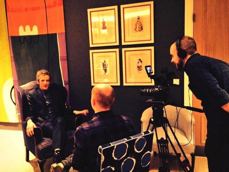 BBC Worldwide's very own @mgueni & @chris_allen interviewing Peter Capaldi for our Doctor Who YouTube & Facebook