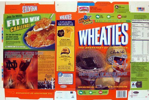 Charlie Weis 2006 Notre Dame Wheaties Box