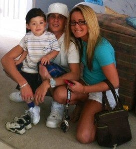 Teen Mom Jenelle Evans with son Jace and Gary Head