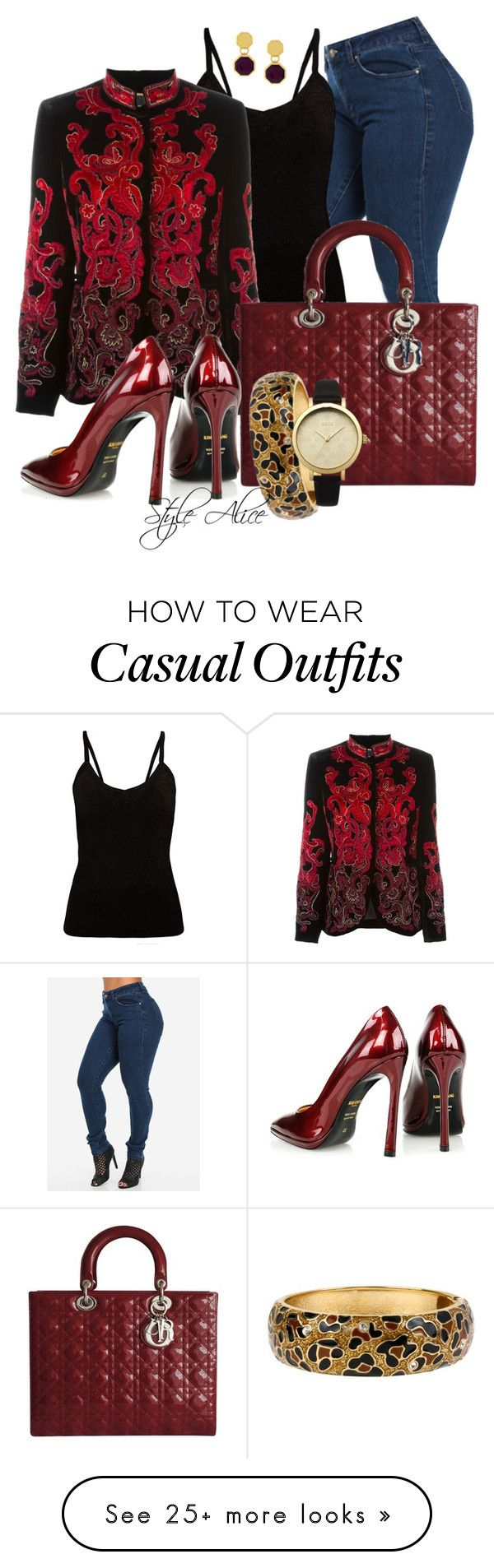 """Casual"" by alice-fortuna on Polyvore featuring Alberta Ferretti, Christian Dior, Kim Kwang, Louise et Cie, Betsey Johnson and Lipsy"