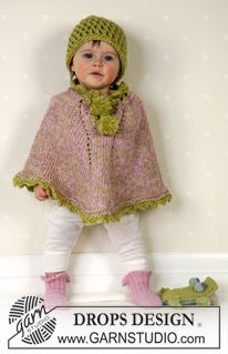 Poncho, hat and socks in Alpaca ~ DROPS Design...coming soon for a dear friend who is expecting (if she has a girl...)