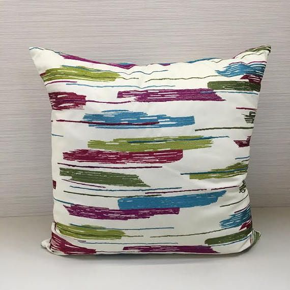 Pillow Cover with Embroidery 20x20 Cushion Geometric