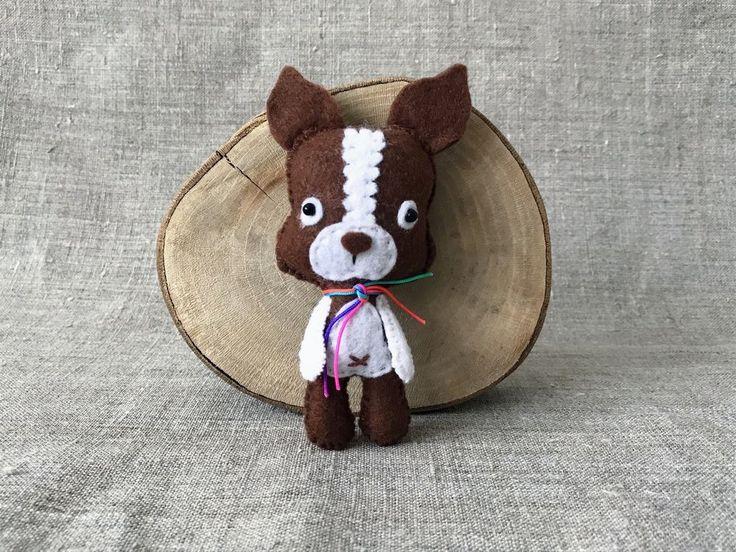 Felt puppy dog little baby toy, #Handmade