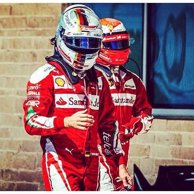 Scuderia love  #scuderia #ferrari #f1 #f1images #f1pics #f12016 #vettel #kimi #raikkonen #worldchampions #motorsport #racing #italy #pitlaneprowler