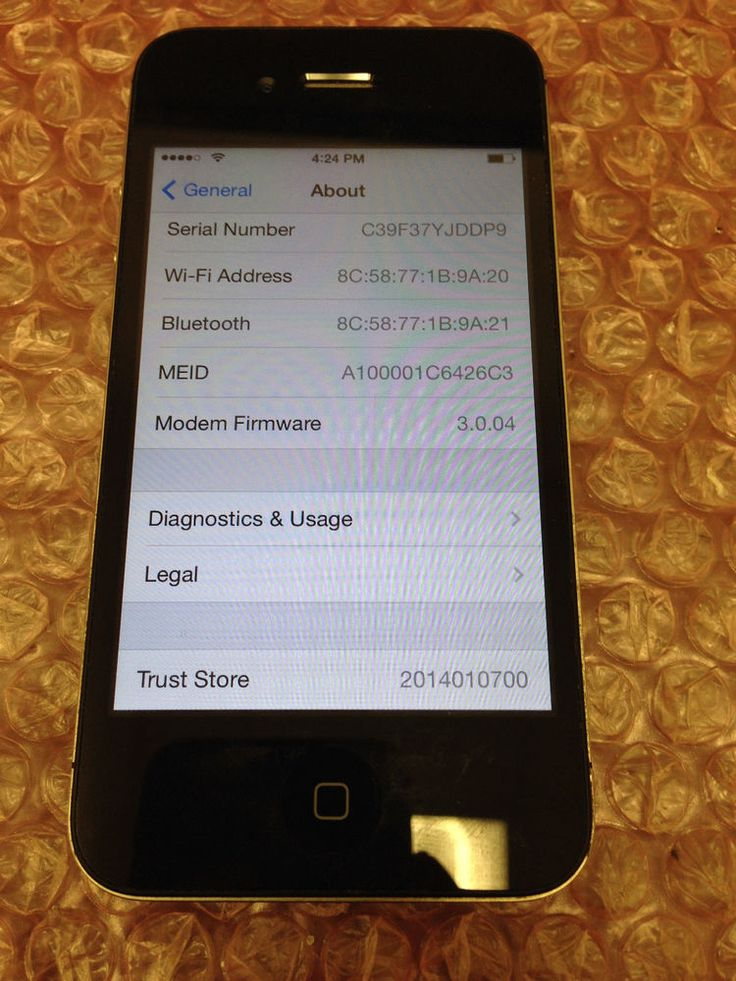 Apple iPhone 4 32GB Black Verizon Smartphone MC678LL/A A1349 Tested #Apple #Smartphone