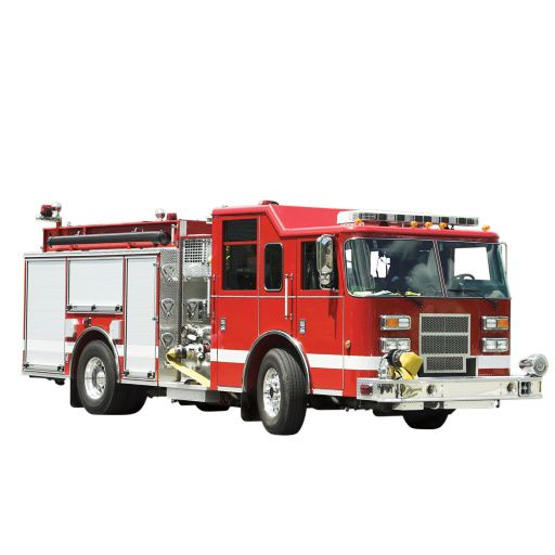 Giant Fire Truck Adhesive For Kids Room