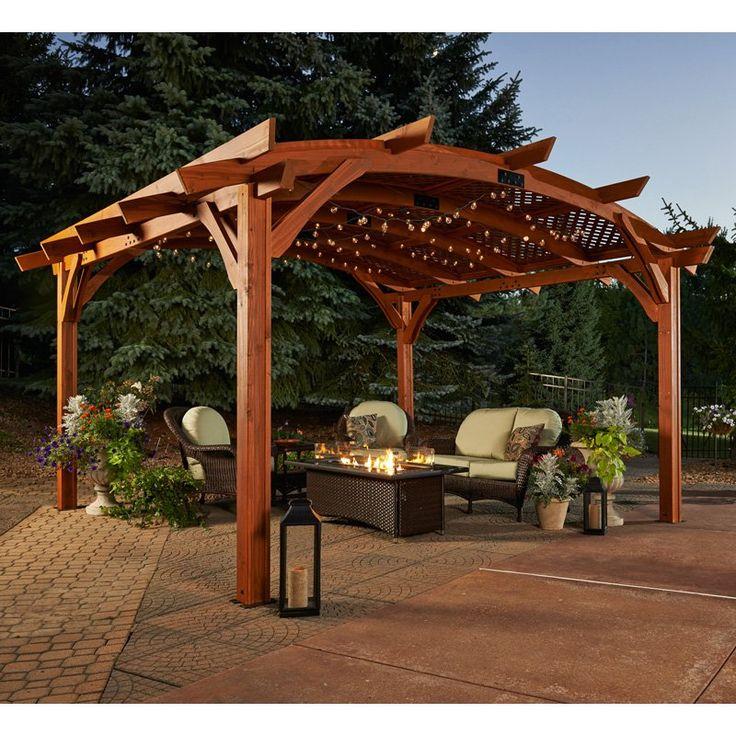 12 Great Ideas For A Modest Backyard: 17 Best Ideas About Wood Pergola On Pinterest
