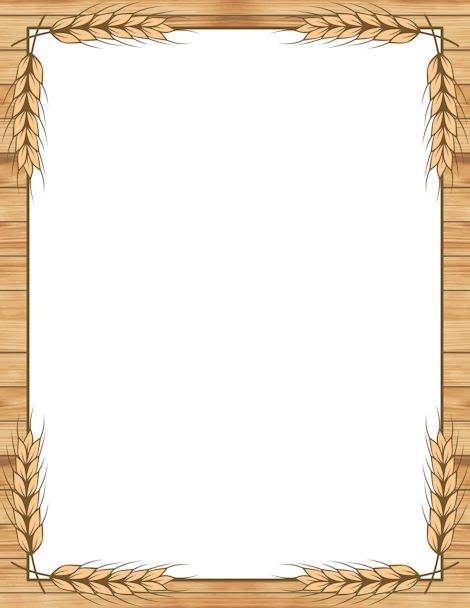 Printable wheat border. Free GIF, JPG, PDF, and PNG downloads at http ...