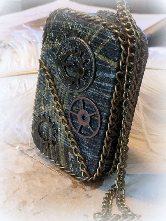 Steam Punk Credit Card Case Altered Tin Box by AlteredStateofTin