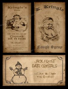 Christmas bathroom  | Primitive Christmas Bath Labels