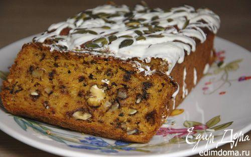 Пирог из тыквы с грецкими орехами  | Кулинарные рецепты от «Едим дома!»