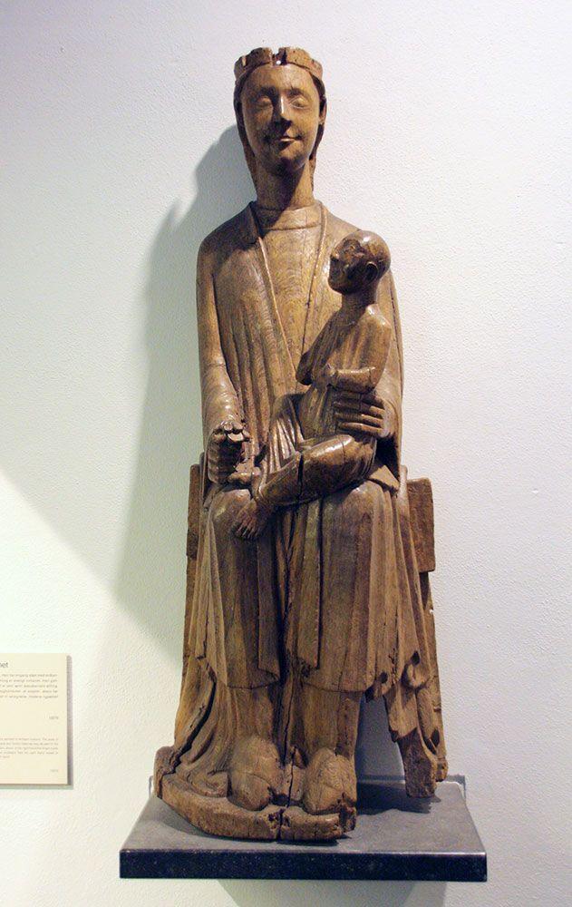 Virgen románica, siglo XIII, Vester Brovy, Soro, Dinamarca