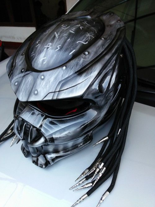 PREDATOR HELMET MOTORCYCLE - DOT APPROVED SIZE M-L-XL-XXL #HandMade #Motorcycle