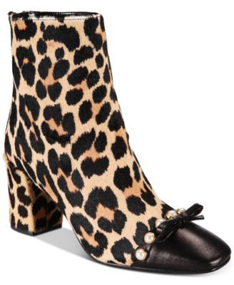 18da5ccce6ba kate spade new york Orton Cheetah-Print Booties $398.00 Wild cheetah-print  on soft suede flirts with charming faux-pearl accents on kate spade new  york's ...