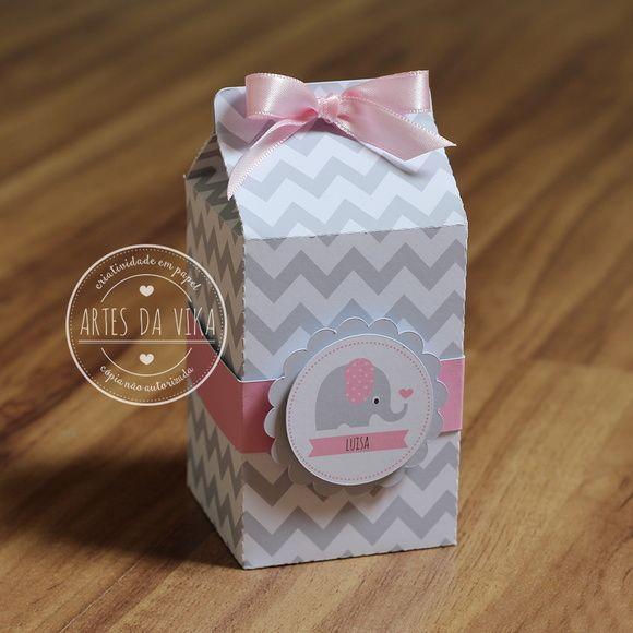 Milk Box - Elefantinho Chevron