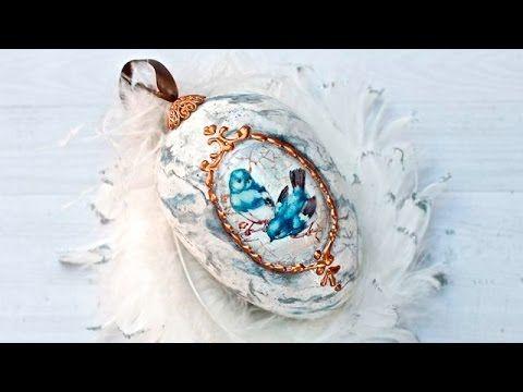 DECOUPAGE marmurowa pisanka - tutorial DIY