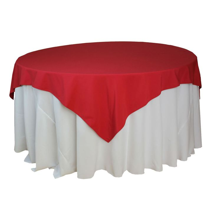 72 X 72 Inch Square Red Tablecloths, 72 X 72 Inches Red Table Overlays For