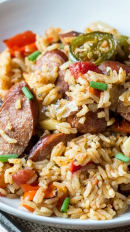 One Pot Spicy Southern Sausage and Rice ~ One pan and 30 minutes is all you need to make this