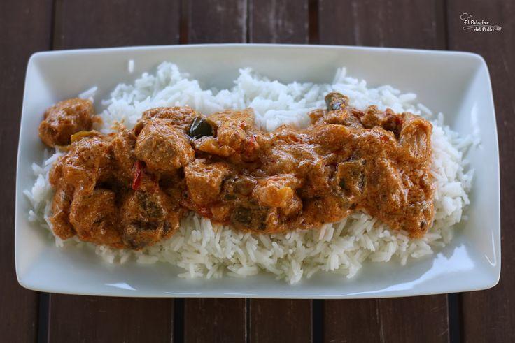 Cerdo tikki massala con arroz thai  http://goo.gl/klh2hX