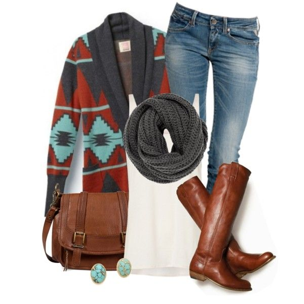 """Aztec Autumn"" by qtpiekelso on Polyvore"