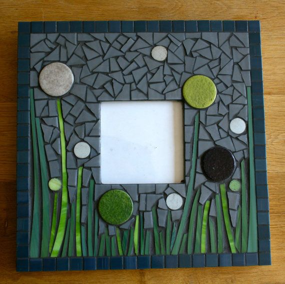 Mosaic+mirror+or+picture+frame+by+AnisCeladon+on+Etsy,+€60.00