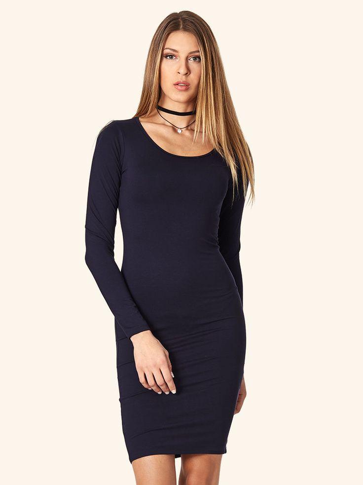 Φόρεμα με στρογγυλή λαιμόκοψη