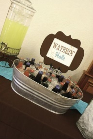 Waterin hole - drink ideas - western cowboy baby shower