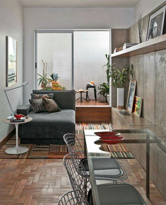 wohnen kompaktes wohnzimmer kleine wohnungen kleine rume kleine zimmer wohnrume wohnzimer kleiner lebensraum stadt chic - Modernes Wohnzimmer Des Innenarchitekturlebensraums