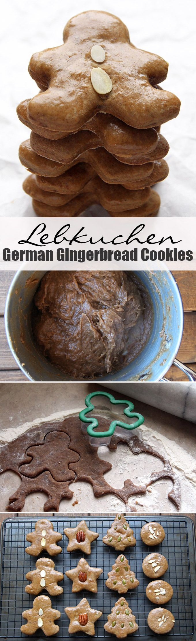 Lebkuchen - German gingerbread cookies. This recipe for soft and chewy gingerbread cookies is a traditional German holiday treat.