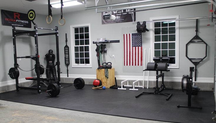 Home Gym Design: Rogue Equipped Garage Gyms - Photo Gallery