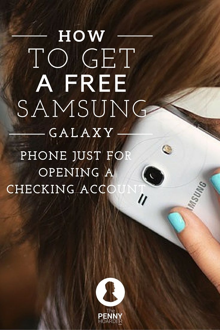 Need a phone upgrade? Us, too. We found a way to get a FREE Samsung Galaxy S5 phone just for opening a TD Bank checking account.- The Penny Hoarder http://www.thepennyhoarder.com/td-bank-checking-account-free-phone/