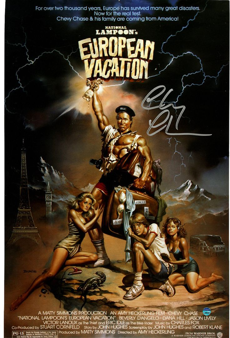 Chevy Chase Signed National Lampoons European Vacation