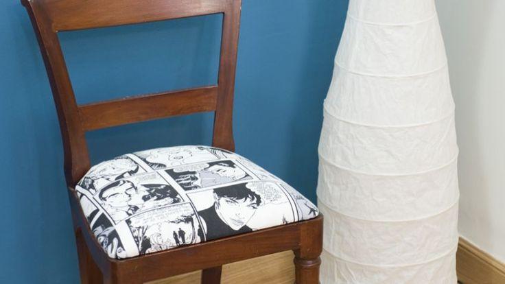 Cómo tapizar y renovar una silla paso a paso - Detalle final