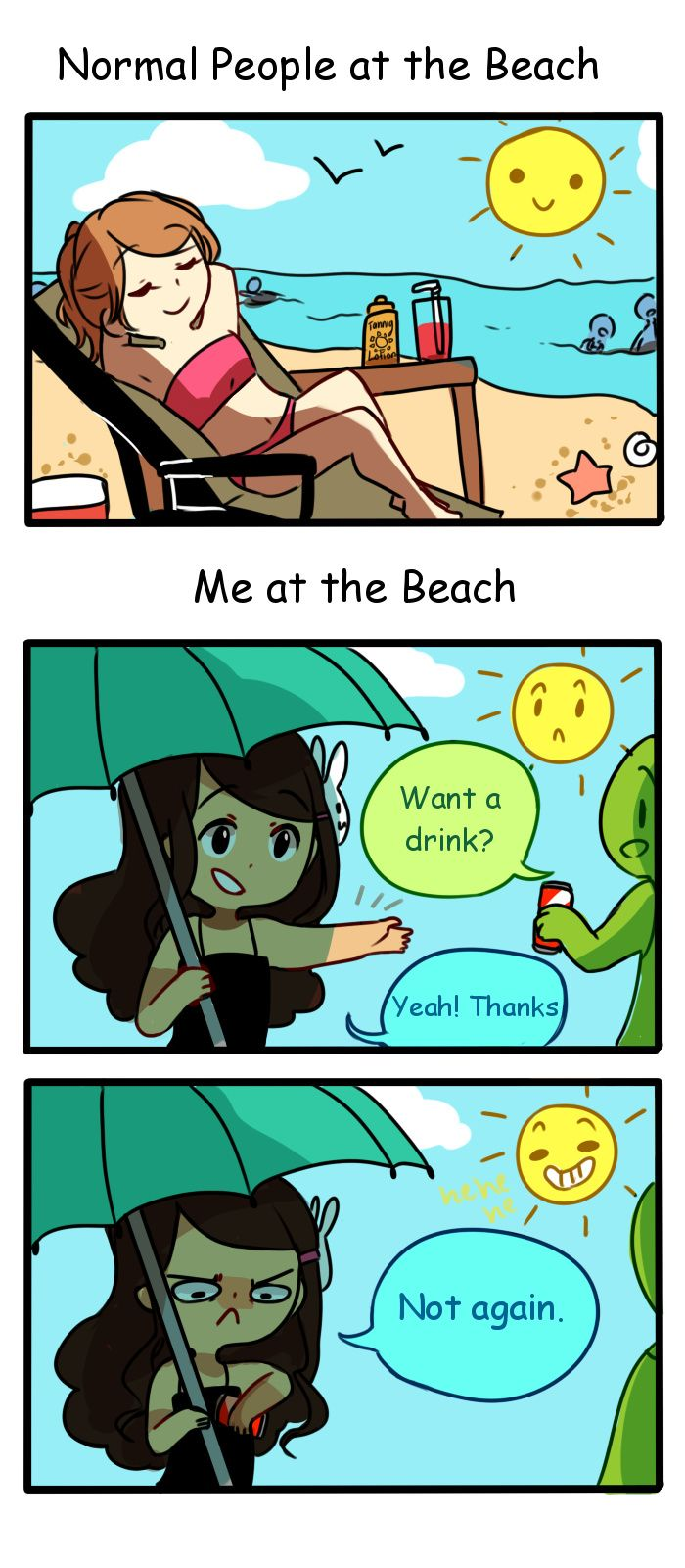 Anti-Social Media :: 13: Beach Day | Tapastic Comics