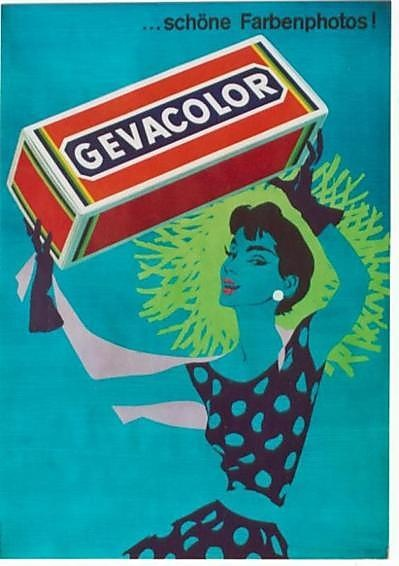 Gevacolor film ad by Donald Brun 1955
