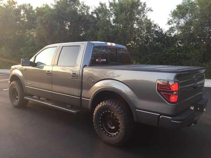 """2012 Ford F150 FX4 EcoBoost 4 DoorGrey, with Toyo MT's 295/70R17 on 17x8 Method Standard Wheels, 2"""" Level kit"""