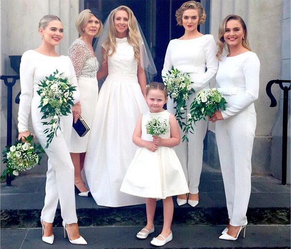 White Tailored Modern Bridesmaid Jumpsuits Brides Of Adelaide