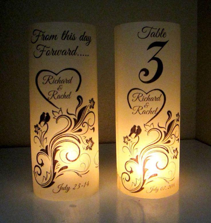 10 Personalized Wedding Centerpiece Luminaries Table Number Love bird Decoration