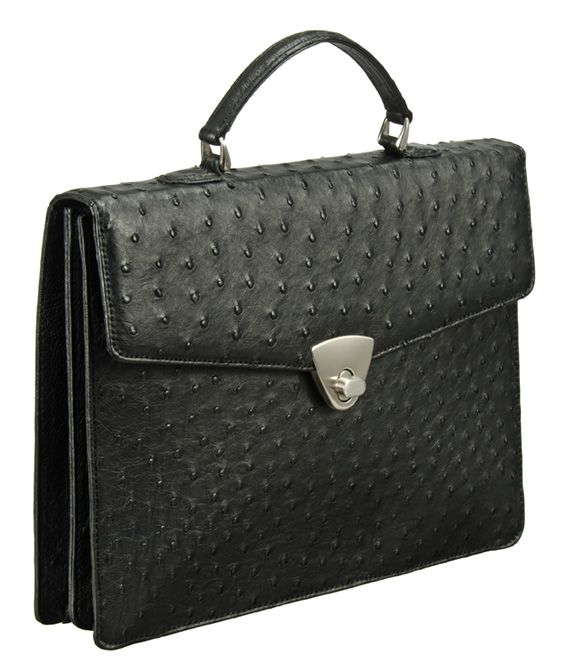 Khari Bag Dallas / Material Ostrich Leather Bag / Dimensions: w34 x h26 x d6