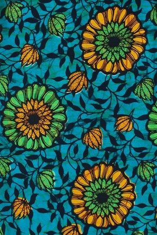 Tendrils African Print Fabric                              …
